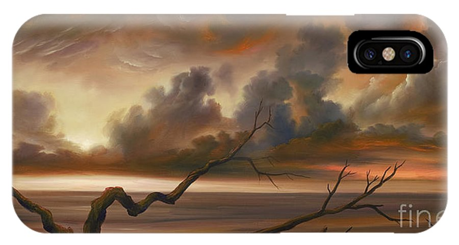 Ocean IPhone X Case featuring the painting Botany Bay by James Christopher Hill