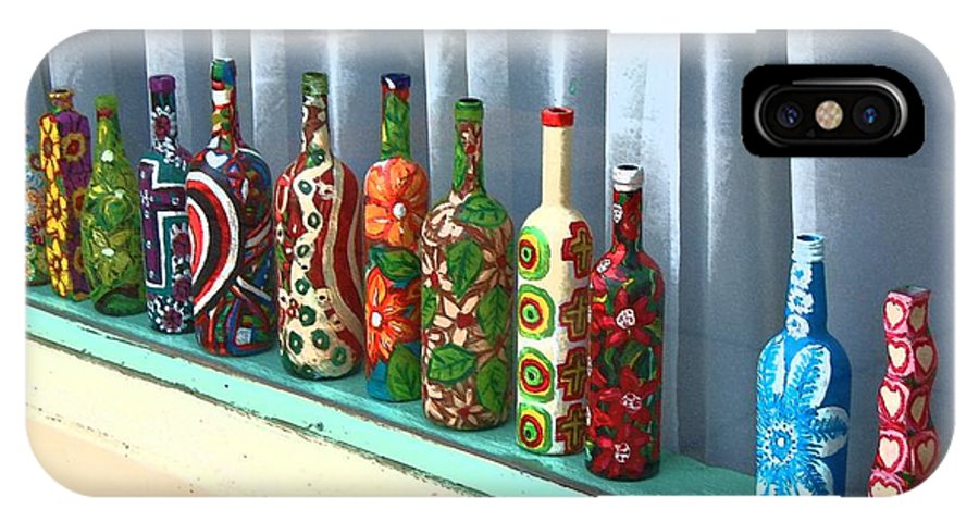 Bottles IPhone X Case featuring the photograph Bottled Up by Debbi Granruth