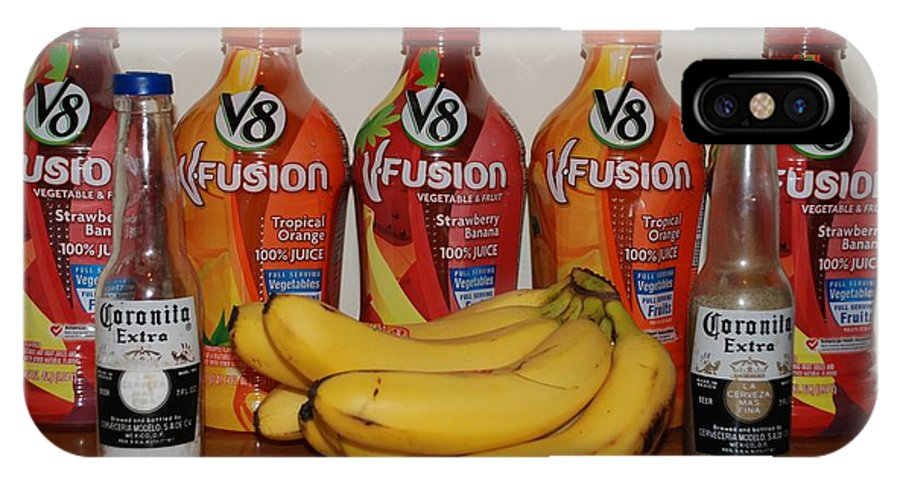V8 IPhone X Case featuring the photograph Bottles N Bananas by Rob Hans
