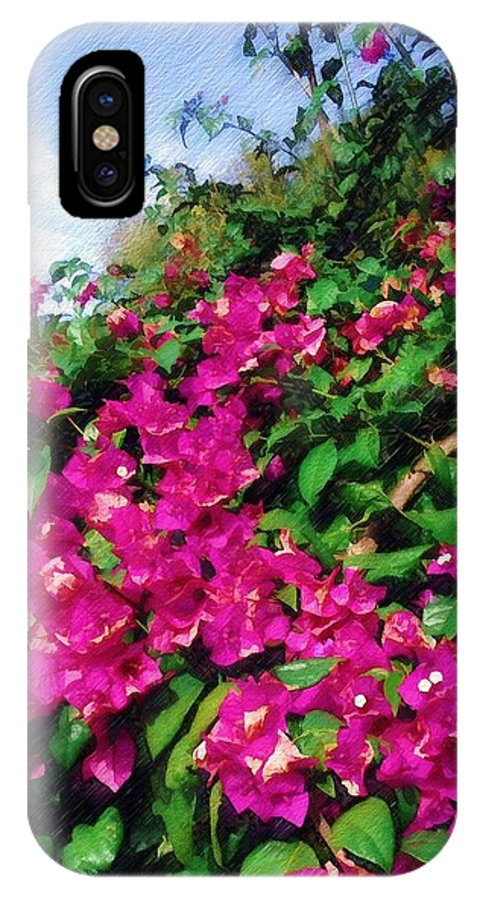 Bougainvillea IPhone X Case featuring the photograph Bougainvillea by Sandy MacGowan