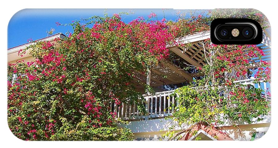 Flowers IPhone Case featuring the photograph Bougainvillea Villa by Debbi Granruth