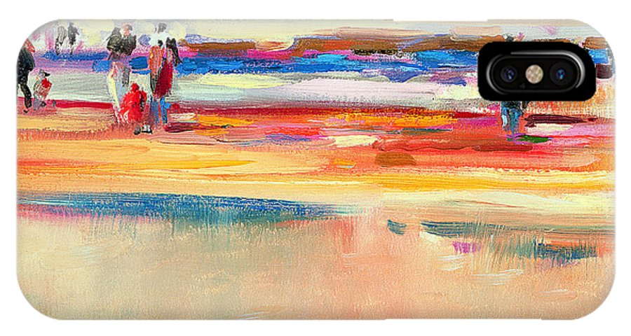 Beach IPhone X Case featuring the painting Boulevard De Boudin by Peter Graham
