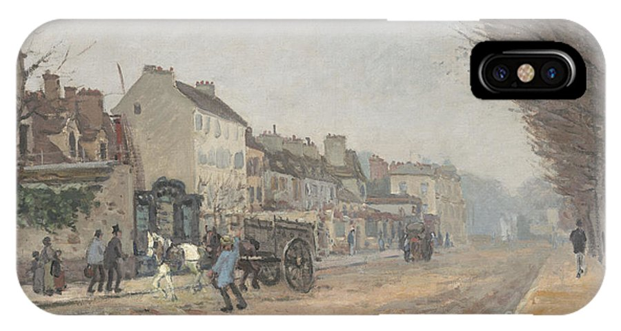 IPhone X Case featuring the painting Boulevard H?lo?se, Argenteuil by Alfred Sisley