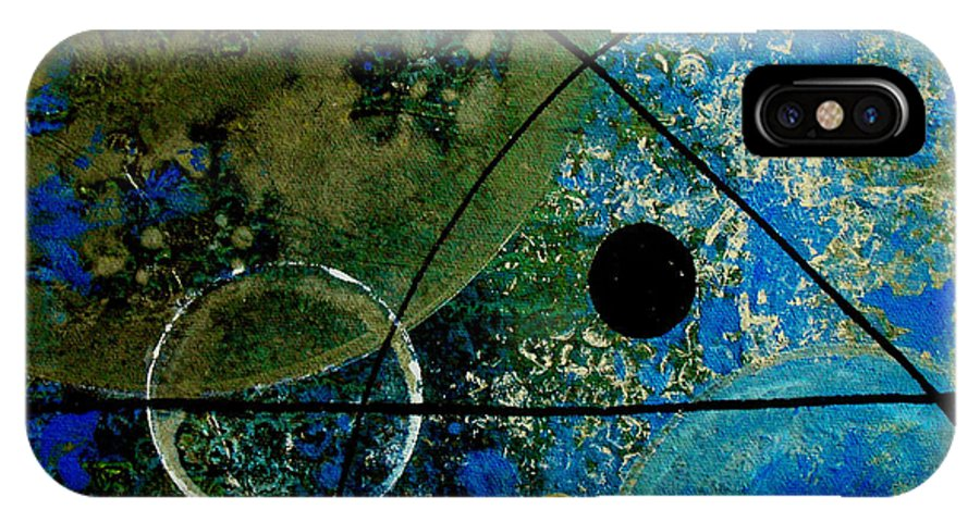 Abstract IPhone Case featuring the painting Bouncer by Ruth Palmer