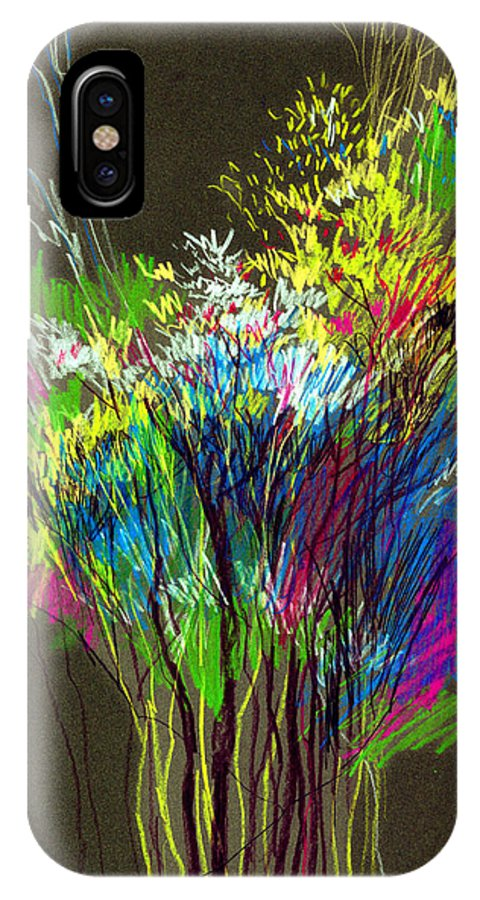 Flowers IPhone X Case featuring the painting Bouquet by Anil Nene