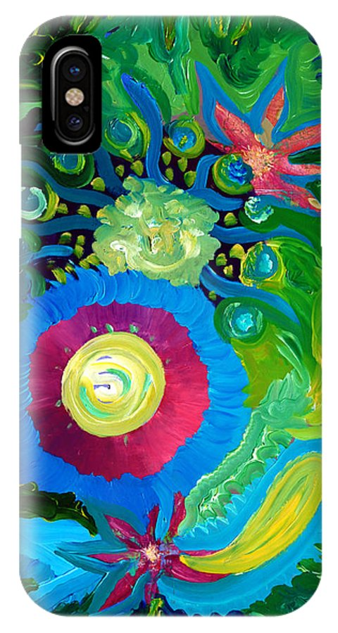 Floral IPhone X Case featuring the painting Bouquet Tropical by Ishwar Malleret