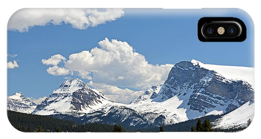 Bow Lake IPhone X Case featuring the photograph Bow Lake Vista by Ginny Barklow