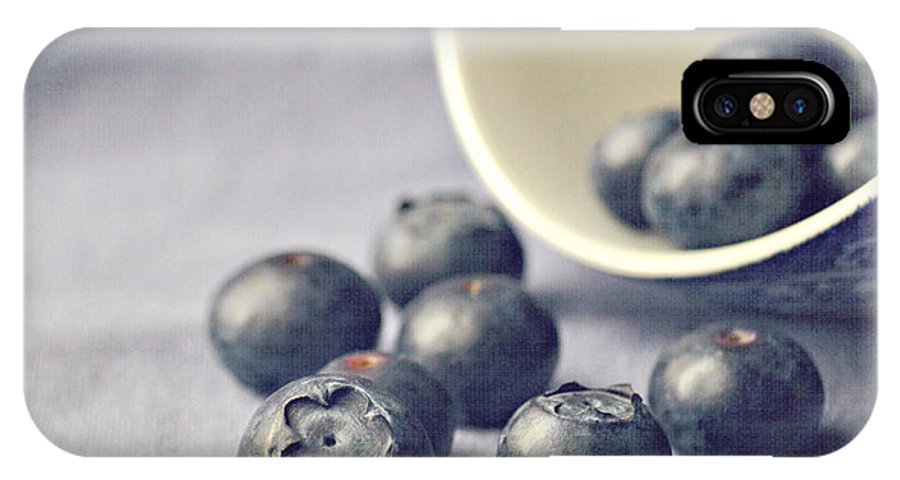 Blueberries IPhone X Case featuring the photograph Bowl Of Blueberries by Lyn Randle