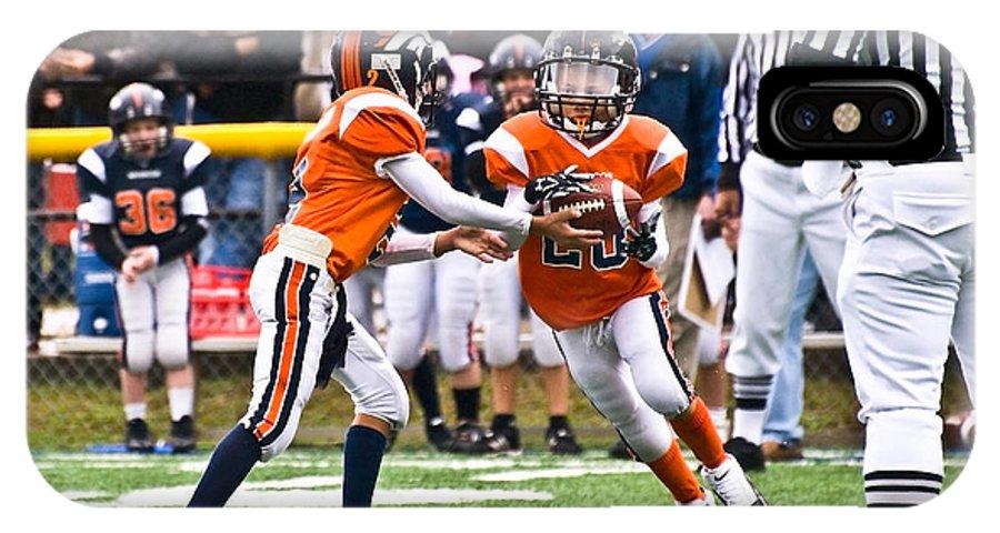 America IPhone X Case featuring the photograph Boys Football by Susan Leggett
