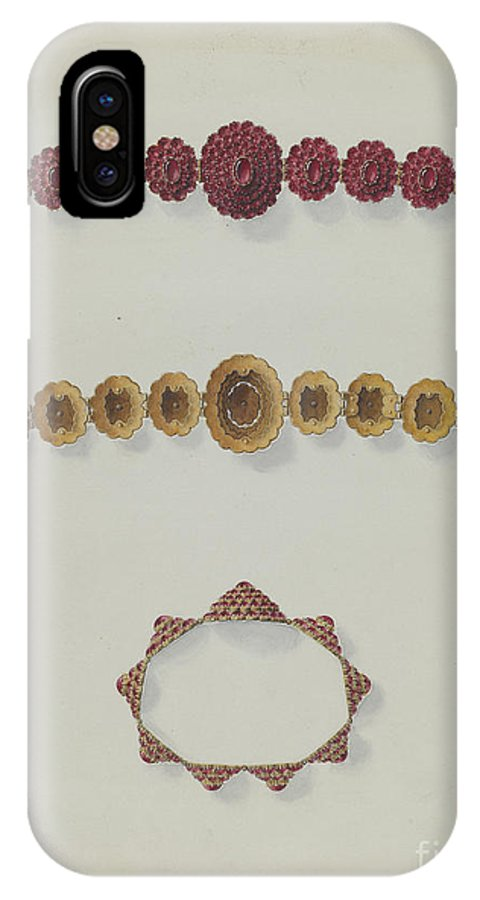 IPhone X Case featuring the drawing Bracelet by John H. Tercuzzi
