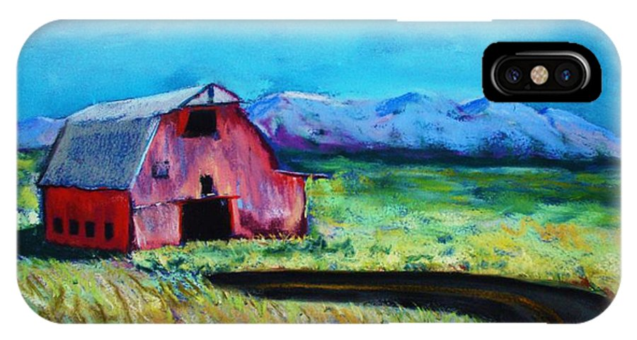 Barn IPhone X Case featuring the pastel Bradley's Barn by Melinda Etzold