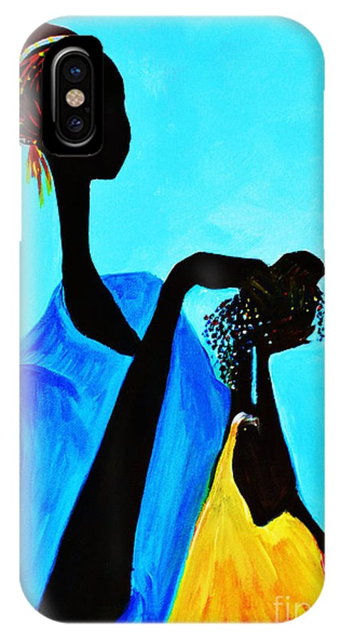 Acrylics IPhone X / XS Case featuring the photograph Braiding Time by Ruth Yvonne Ash