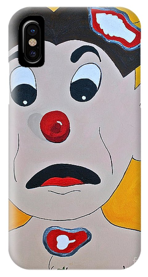 Operation Kids Gams Kids Toys Old Toys IPhone X Case featuring the painting Brain Freeze by Herschel Fall