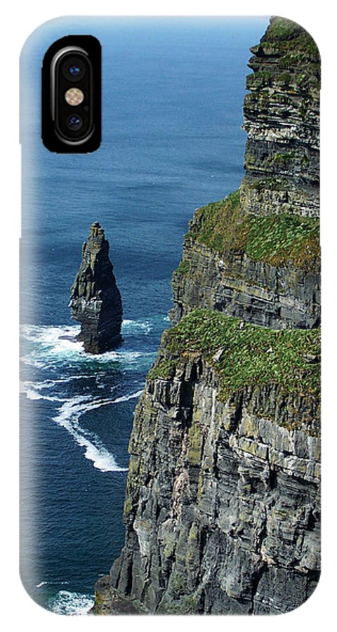 Irish IPhone X Case featuring the photograph Brananmore Cliffs of Moher Ireland by Teresa Mucha
