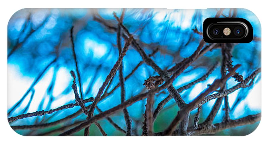 Abstract IPhone X / XS Case featuring the digital art Branches 23 by Daniel DeLucia