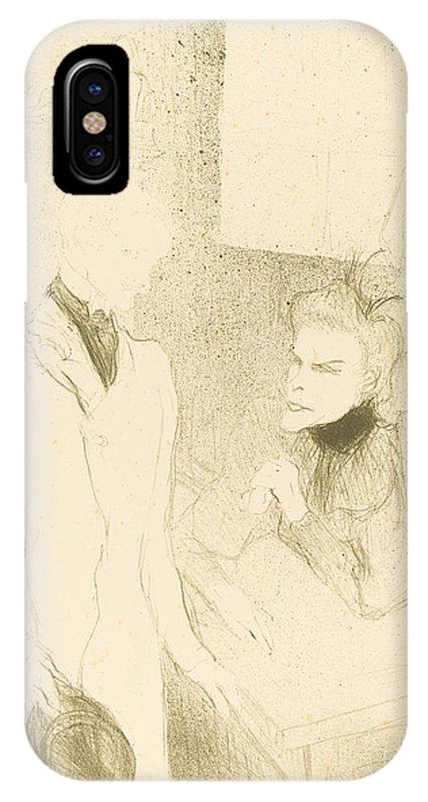 "IPhone X Case featuring the drawing Brandes And Le Bargy In ""cabotins"" (brand?s Et Les Bargy Dans ""cabotins"") by Henri De Toulouse-lautrec"