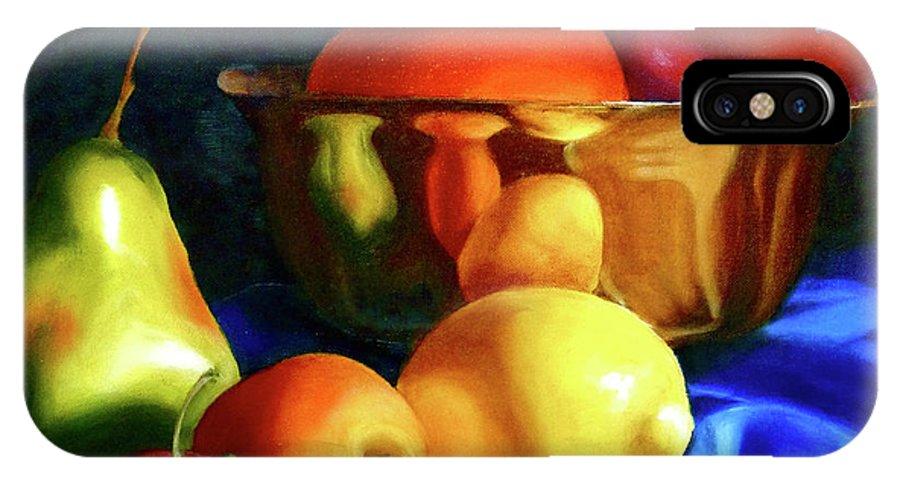 Still Llife IPhone X Case featuring the painting Brass Ensemble by Susan A Becker
