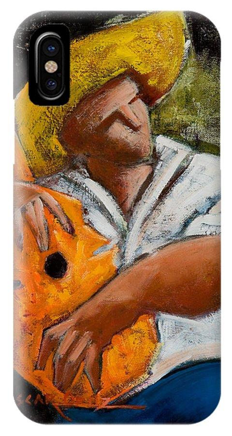 Puerto Rico IPhone X Case featuring the painting Bravado Alla Prima by Oscar Ortiz