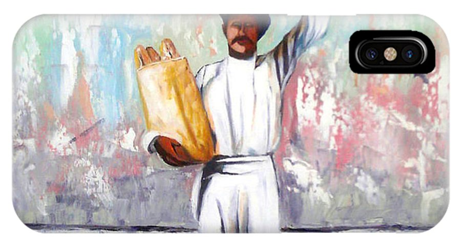 Bread IPhone Case featuring the painting Breadman by Jose Manuel Abraham