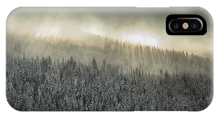 Sunbeams IPhone X Case featuring the photograph Breaking Through The Darkness by Joy McAdams