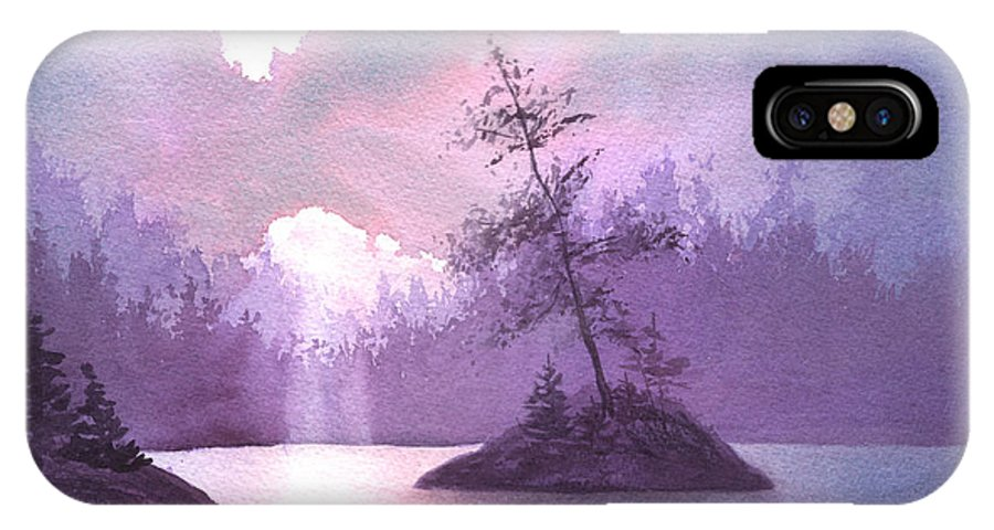 Landscape IPhone X Case featuring the painting Breakthrough by Lynn Quinn