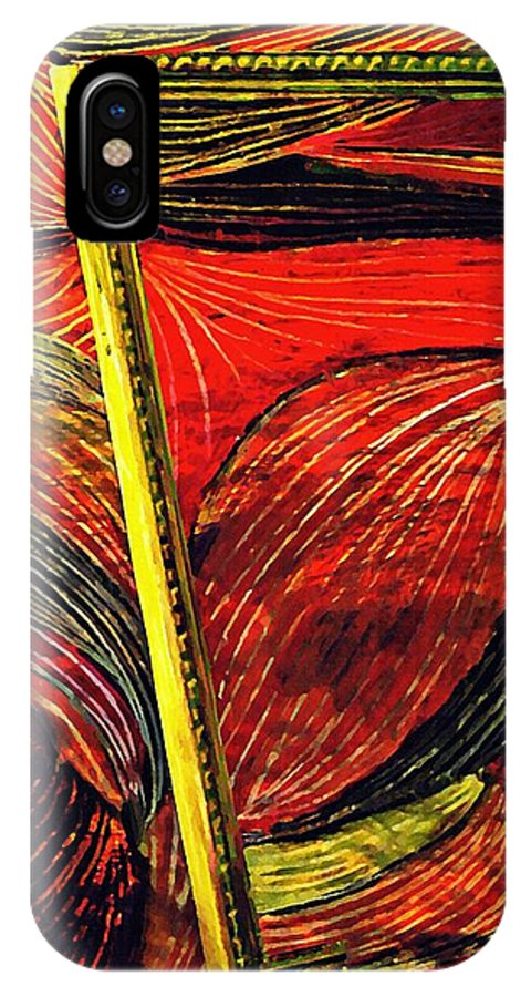 Wave IPhone X Case featuring the mixed media Breakthrough by Sarah Loft