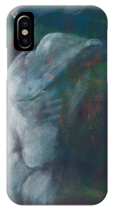 Yoga IPhone X Case featuring the painting Breathe by Sara Young