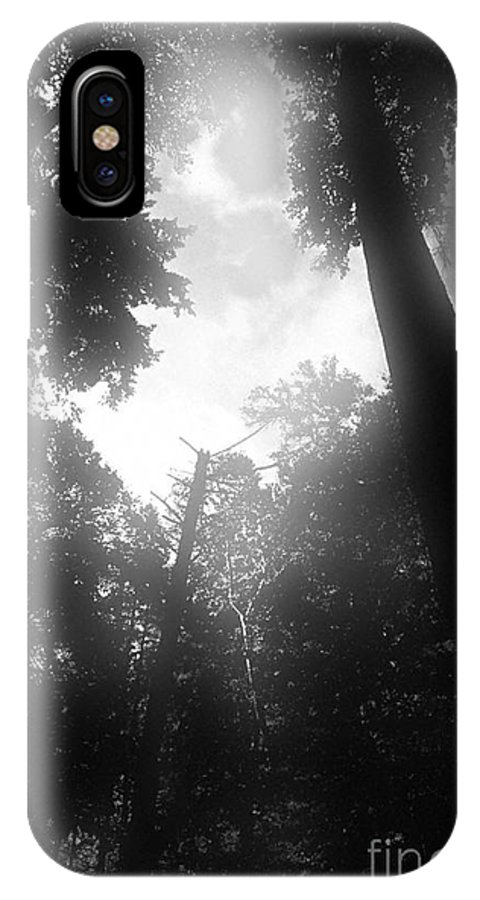 Trees IPhone X Case featuring the digital art Breathing Trees by Sven Brogren