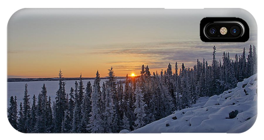Snow IPhone X Case featuring the photograph Breathtaking Winter Sunrise by Brian Kamprath