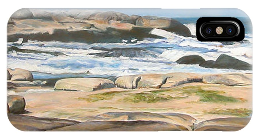 Paysage IPhone X Case featuring the painting Bretagne 2 by Muriel Dolemieux