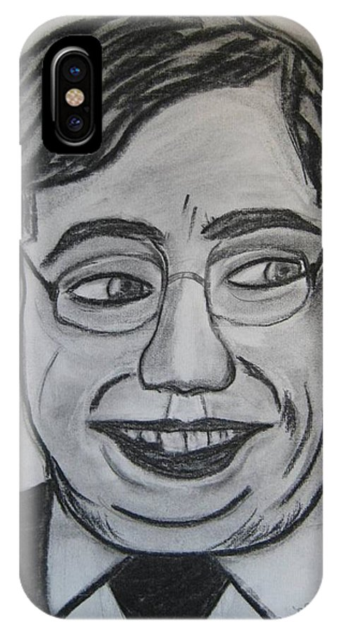 Art Artroger Roger Cummiskey Charcoal IPhone X Case featuring the painting Brian Cowan by Roger Cummiskey