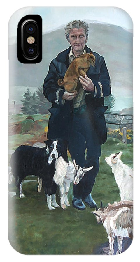 Hermit IPhone X / XS Case featuring the painting Brian by Michael McDougall