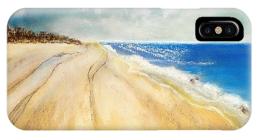 Bribie IPhone X Case featuring the pastel Bribie Island by Gloria Dietz-Kiebron