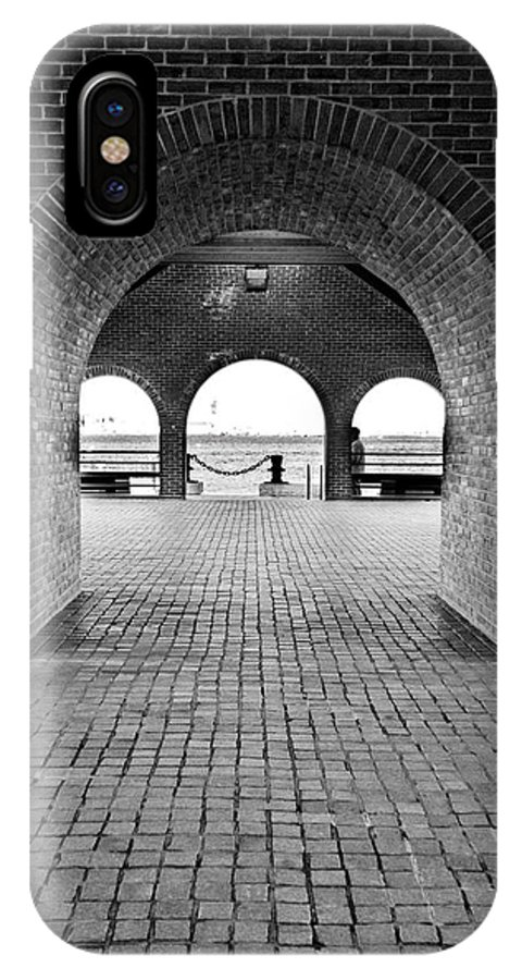 Arch IPhone X Case featuring the photograph Brick Arch by Greg Fortier