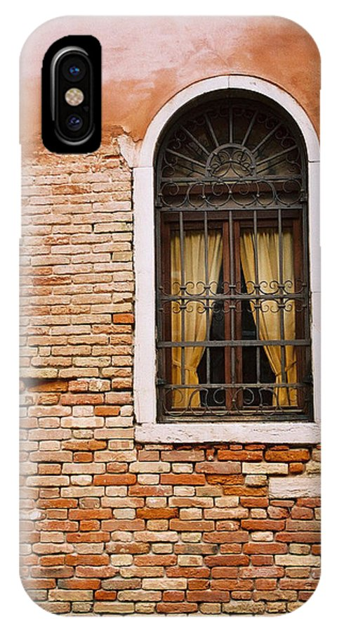 Window IPhone X Case featuring the photograph Brick Window by Kathy Schumann