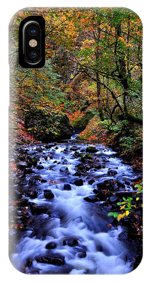 Stream IPhone X Case featuring the photograph Bridal Veil Creek by Noah Cole