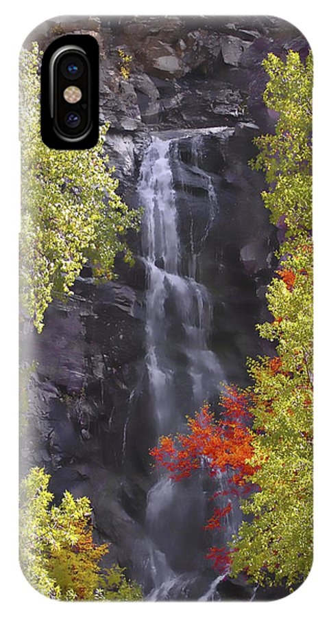 Waterfall IPhone X Case featuring the photograph Bridal Veil Falls Black Hills by Rich Stedman