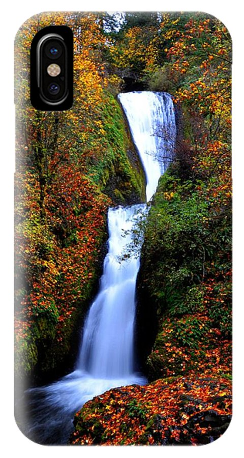 Stream IPhone X Case featuring the photograph Bridal Veil Falls by Noah Cole