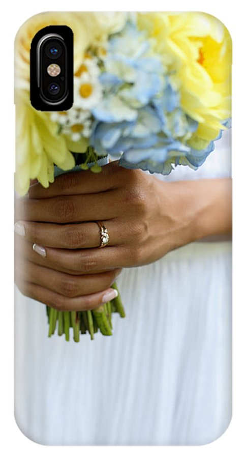 Asian IPhone X Case featuring the photograph Brides Wedding Ring by Gillham Studios