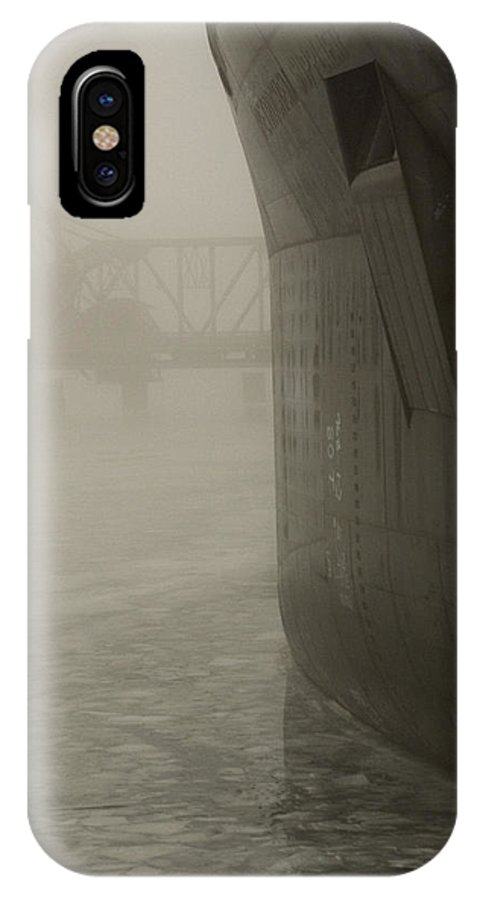 Water IPhone Case featuring the photograph Bridge And Barge by Tim Nyberg