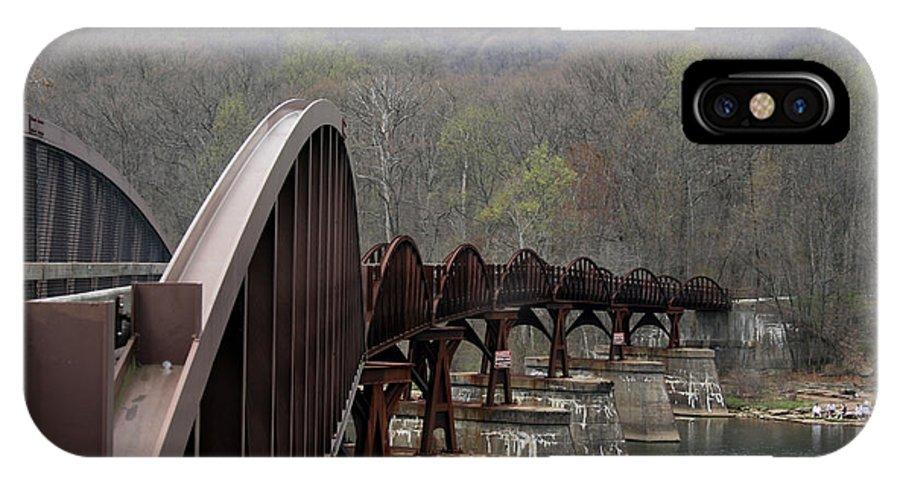 Bridge IPhone X Case featuring the photograph Bridge At Ohiopyle Pennsylvania by George Jones