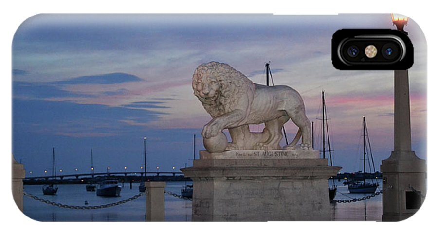 St. Augustine IPhone X / XS Case featuring the photograph Bridge Of Lions by Shelley Wood