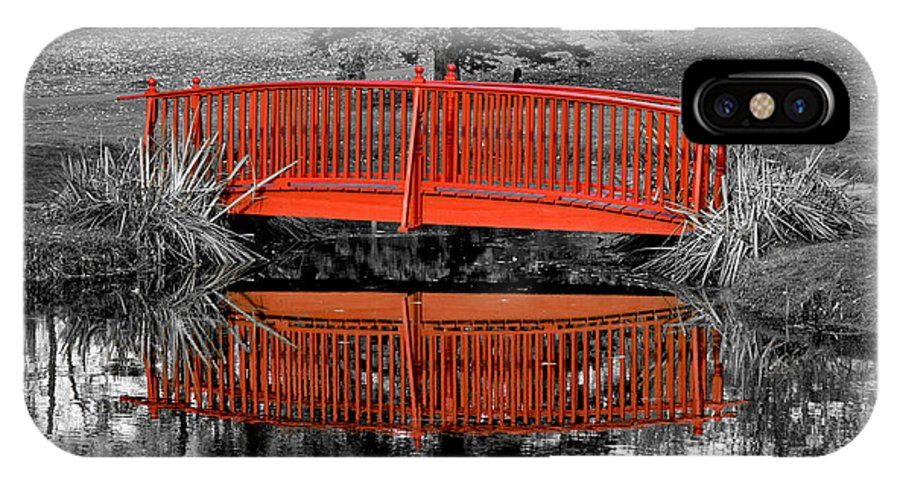 Art IPhone X Case featuring the photograph Bridge The Gap by Greg Fortier