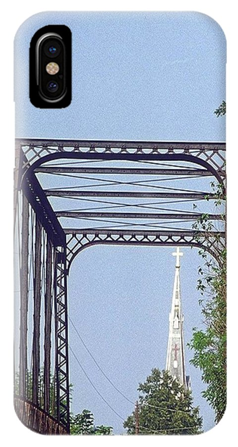 Church IPhone X Case featuring the photograph Bridge To God by Gary Wonning