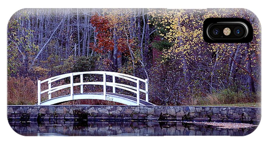 Bridge IPhone X Case featuring the photograph Bridge To Serenity by Faith Harron Boudreau