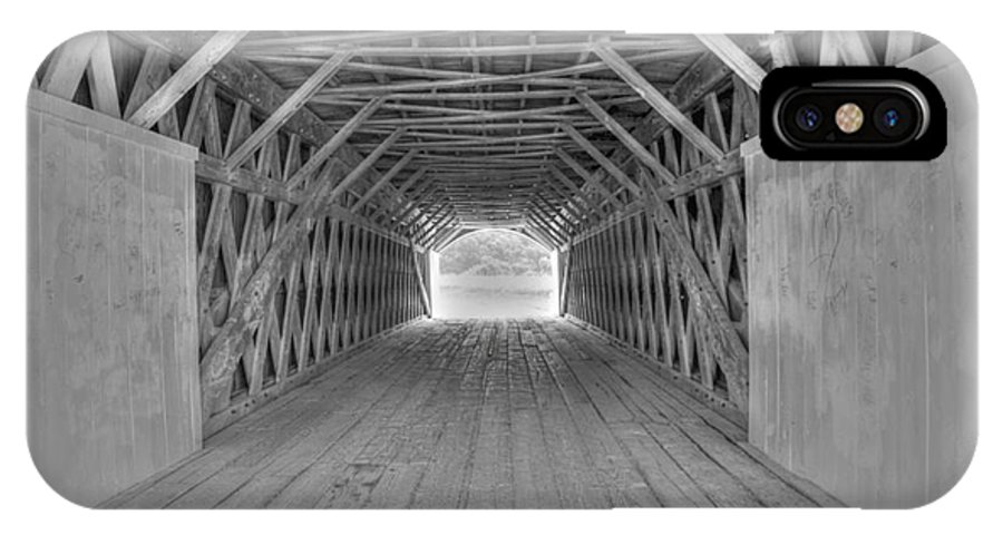 Hdr IPhone X Case featuring the photograph Bridges of Madison County by David Bearden