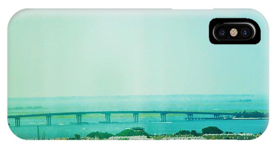 Brigantine IPhone X Case featuring the photograph Brigantine Bridge - New Jersey by Bill Cannon