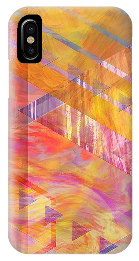 Affordable Art IPhone X Case featuring the digital art Bright Dawn by John Beck