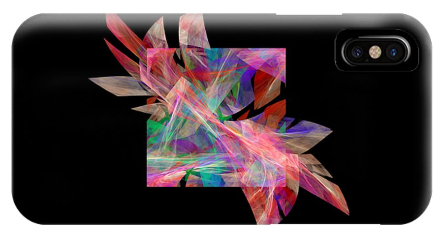 Abstract IPhone X Case featuring the digital art Bright Elegance B. by Galina Lavrova