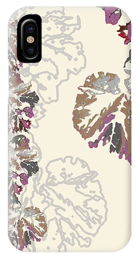 Leaves IPhone X Case featuring the digital art Brin by Ceil Diskin